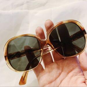 Vtg Oscar De LaRenta Round Circle Sunglasses